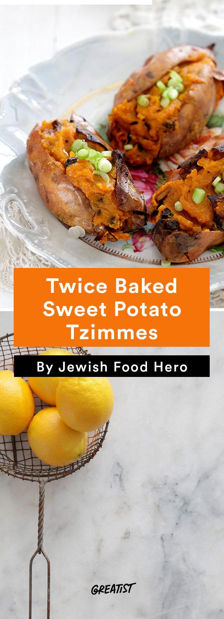 1. Twice-Baked Sweet Potato Tzimmes #vegetarian #kosher #recipes http://greatist.com/eat/jewish-food-recipes-that-revamp-the-classics
