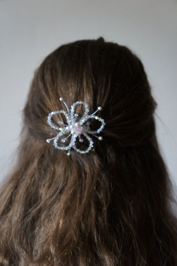 Wedding Hair Accessories Pink Flower Pink by Makewithlovecrafts, £19.99