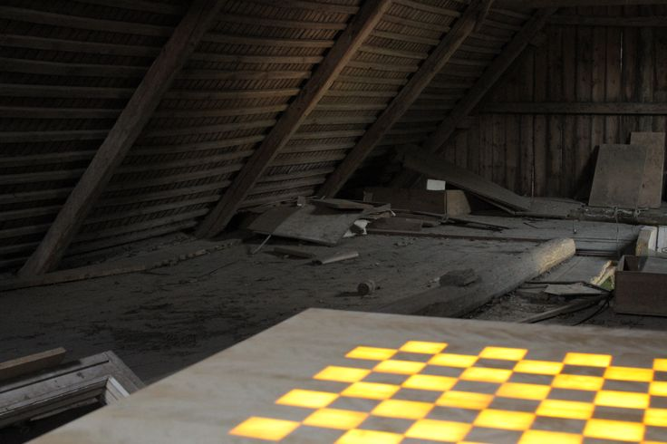 The scandinavian chess table in an old attic!