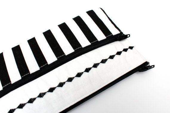 Sale Cute Striped Pencil Case/ Makeup Bag 19cm x 11.5cm With