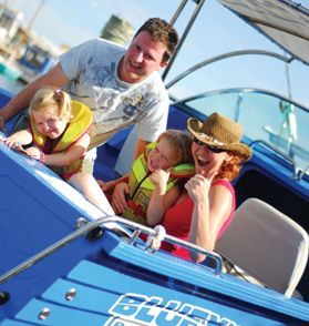 Pre-book to guarantee your boat of choice … or simply turn up and get the next available boat from our large fleet. A boat licence or experience is not required.