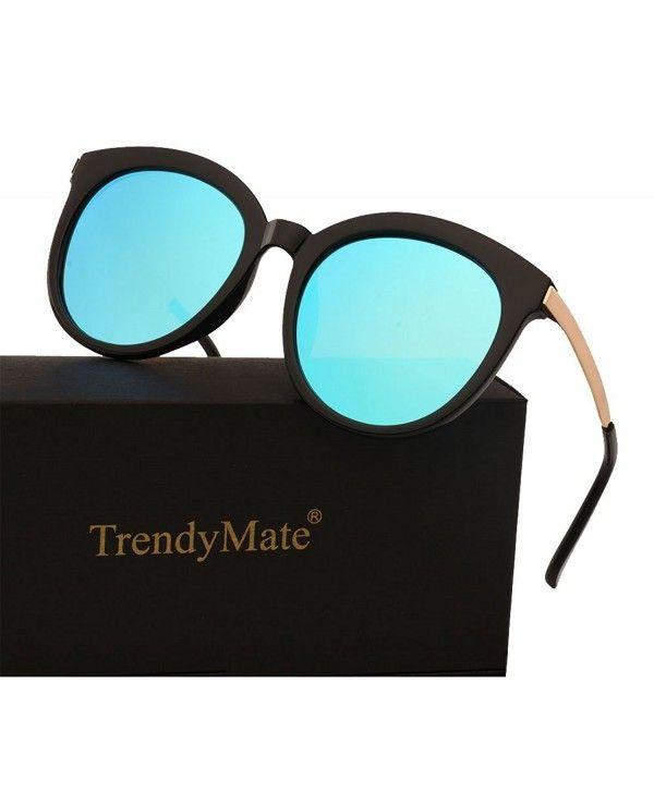 Womens Designer Polarised Oversized Vintage Round Sunglasses UV400 Tortoiseshell Kleding en accessoires Dames: accessoires