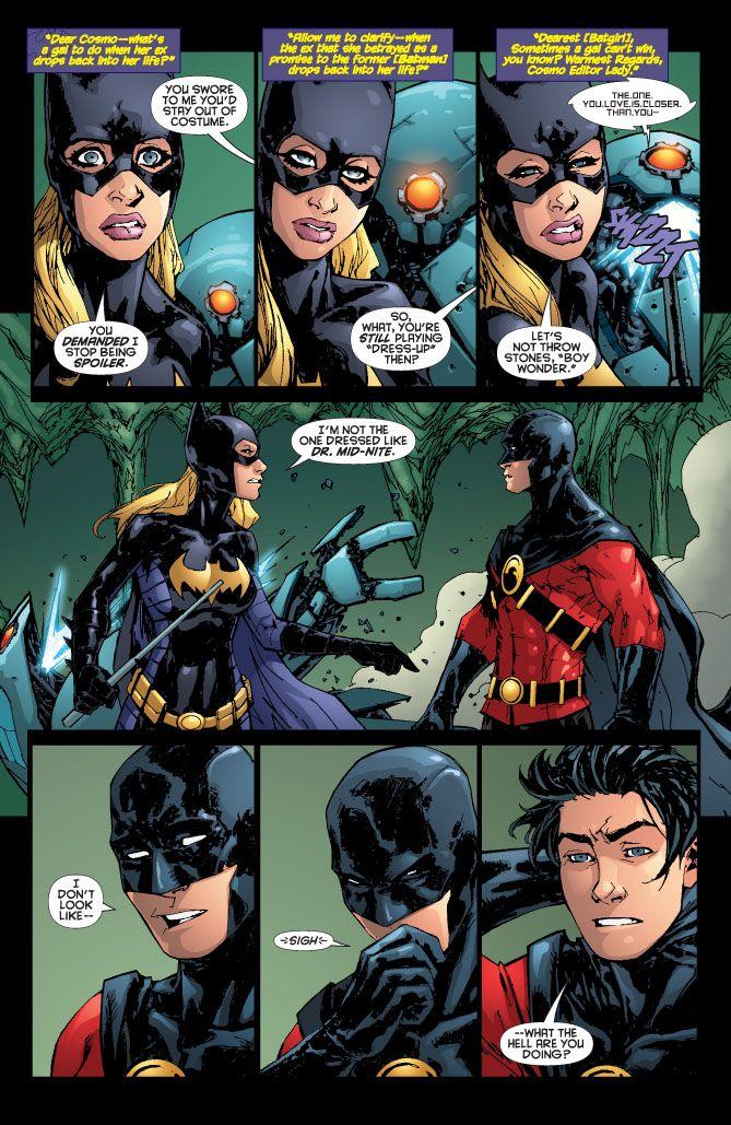 Batgirl and robin kiss drawing - photo#7