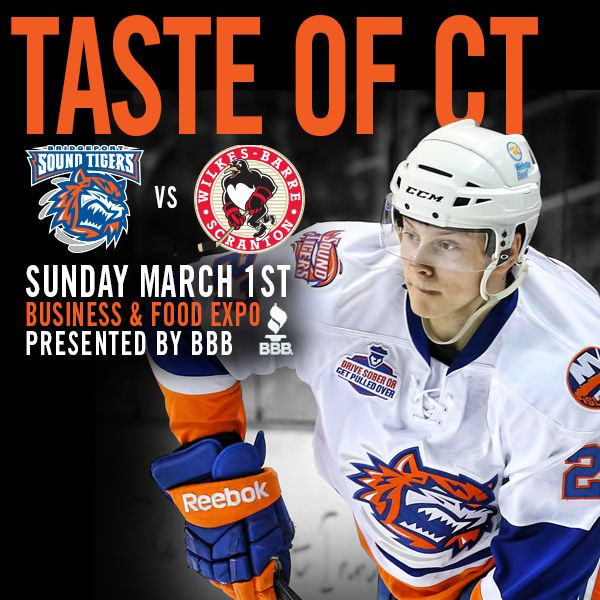 Join us for Taste of Connecticut - a Business & Food Expo this Sunday! Stay for the Sound Tigers Game after!