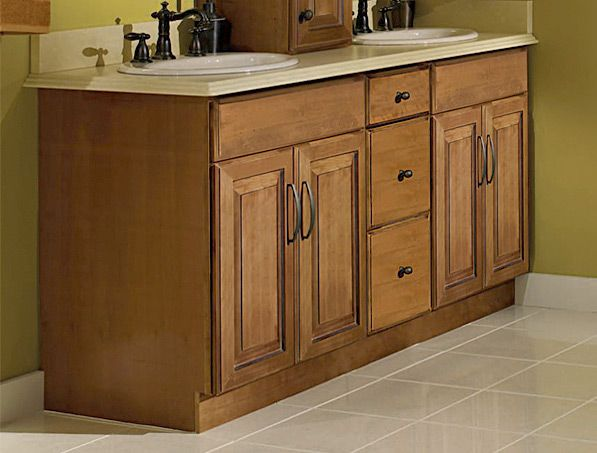 Images Of CliqStudios Maple Caramel kitchen cabinets in the Carlton style