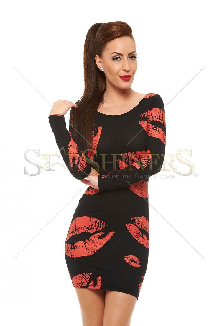 Worldwide Kiss Black Dress