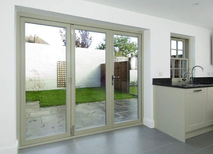 Timber Folding Doors painted French Grey