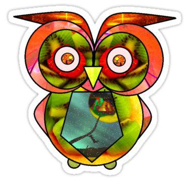 Owl Madness Sticker by StickerNuts