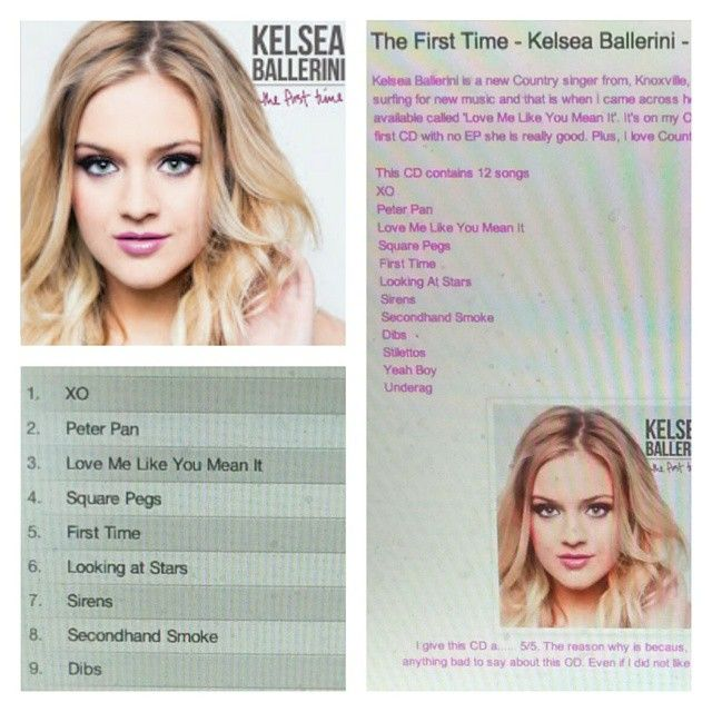 Check out my review on Kelsea Ballerini's CD http://iheartcelebrities519.blogspot.ca/2015/05/the-first-time-kelsea-ballerini-cd.html
