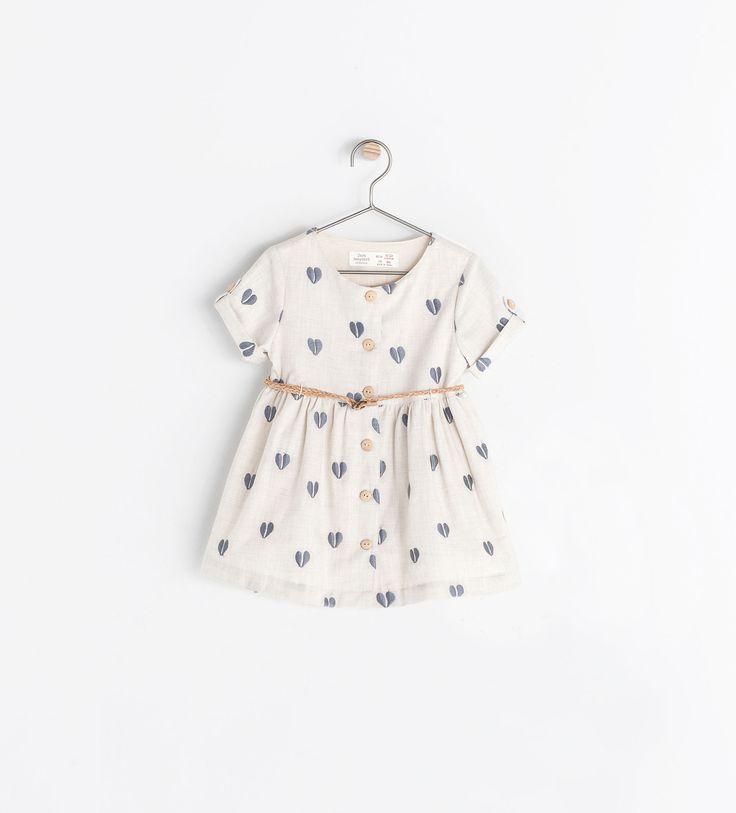 HEARTS PRINT DRESS - Dresses - Baby girl (3 months - 3 years) - KIDS | ZARA United States