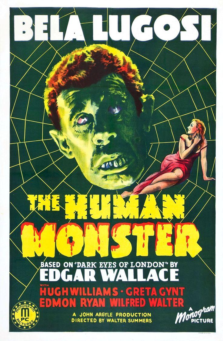 Poster design 1940 - The Human Monster Monogram 1940