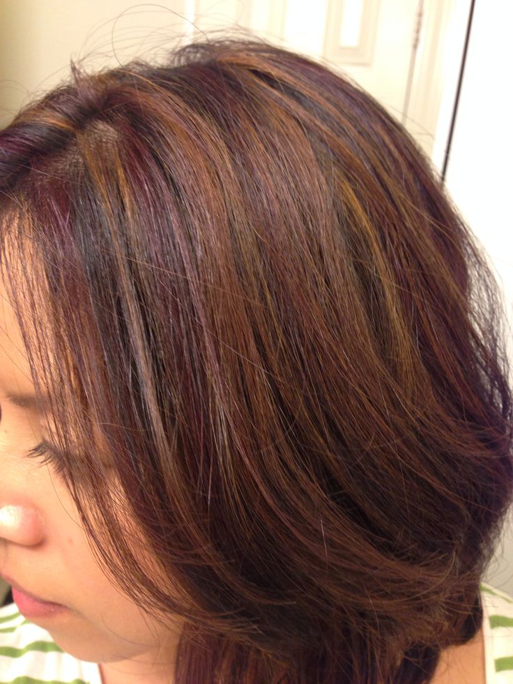 Dark Brunette Brown Hair With Caramel Highlights Using