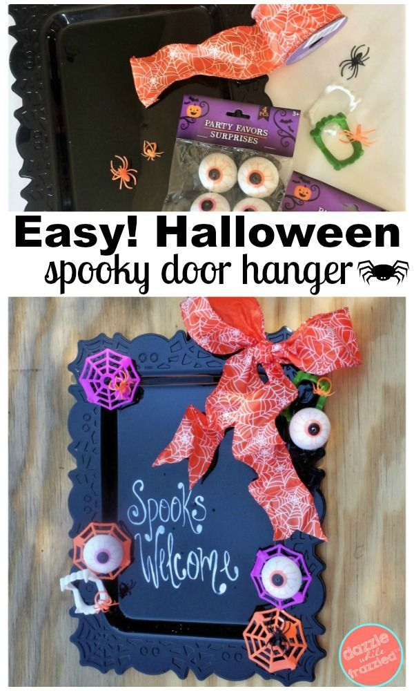 How to Make a $6 Halloween Door Hanger DIY Crafts and Home Decor