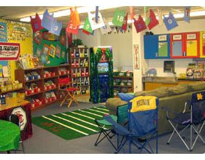 pictures of sports themed classrooms | year I chose teamwork as our theme for the year , I wove that theme ...