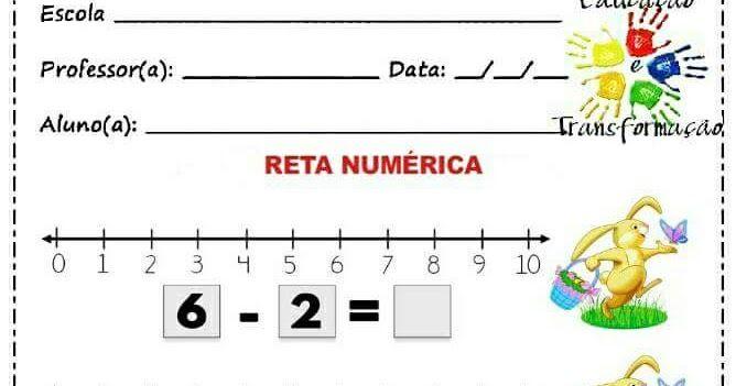 Atividade Para Trabalhar A Operacao Matematica De Subtracao