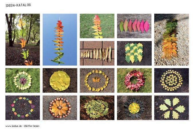 Blätter sammeln, sortieren und legen kann man im Herbst fast überall. Sogar in den Städten gibt es Alleen und Parks, in denen man eine Menge bunte Blätter finden kann. Blätter kann man nach Farben, Formen, Größen sortieren und in unendlich vielen Formen legen.