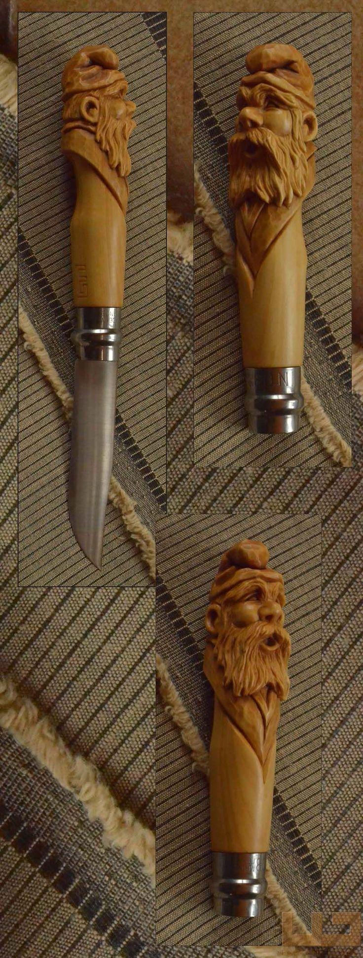 Gerdil Лоран - Скульптура - Opinel № 8 самшит ручка