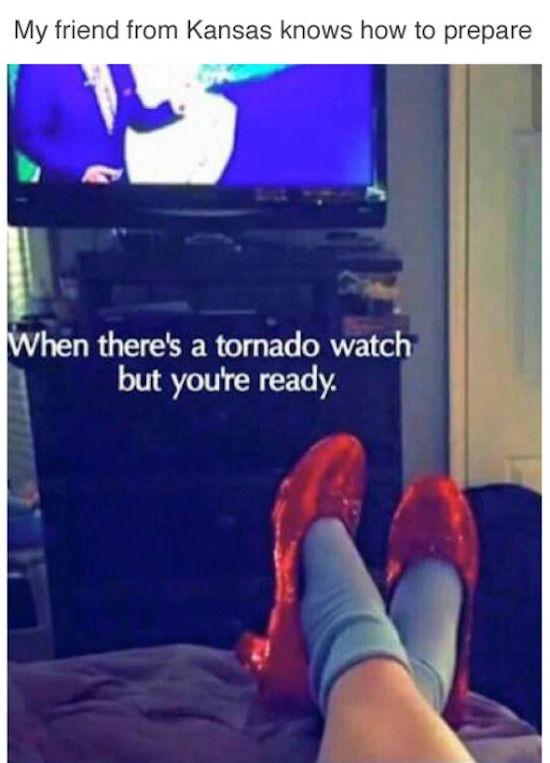 Preparing for a tornado
