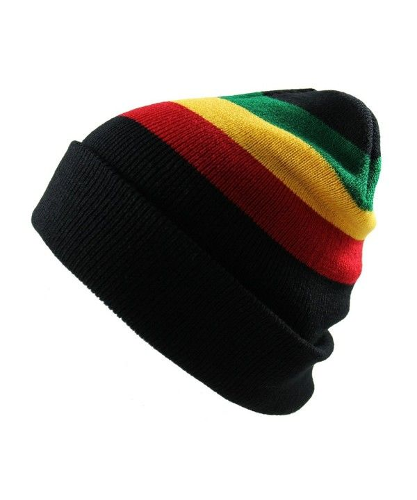 359cc150 Men's Rasta Long Beanie Black CA11VV2S2J9 - Hats & Caps, Men's Hats & Caps,