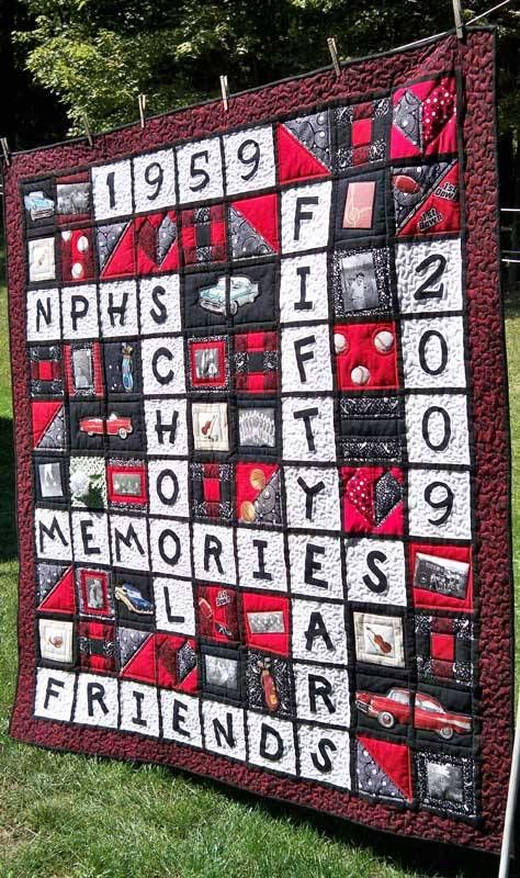 Quilting Class Ideas : Theme and Pictorial Quilts Photo Gallery High school memories and School memories