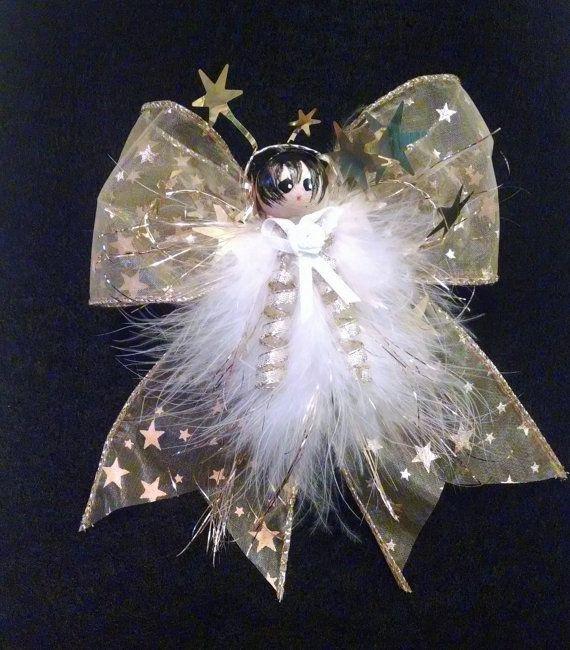 Buy Seraphina - Feather Angel, Handmade Angel - Christmas Tree Angel - Victorian…