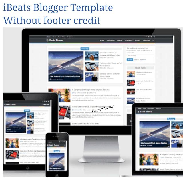 Ibeats Free Professional And Responsive Blogger Template 2018 Seo Friendly Fast Loading Blo Without Footer Credit Paid