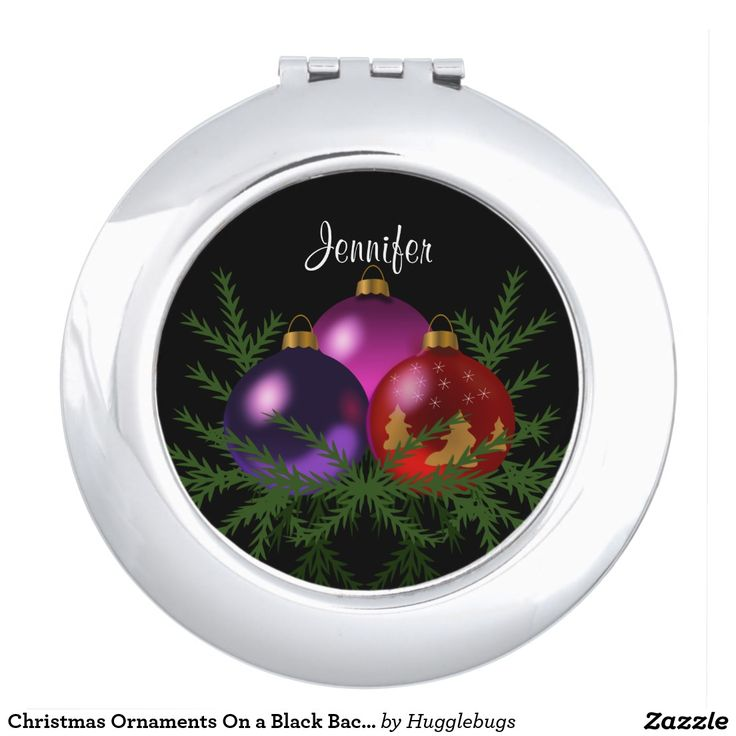 Christmas Ornaments On a Black Background