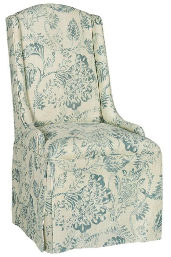 Custom Wingback Parsons Chair with Skirt - Dining Chairs - Kitchen And Dining Room Furniture - Furniture | HomeDecorators.com