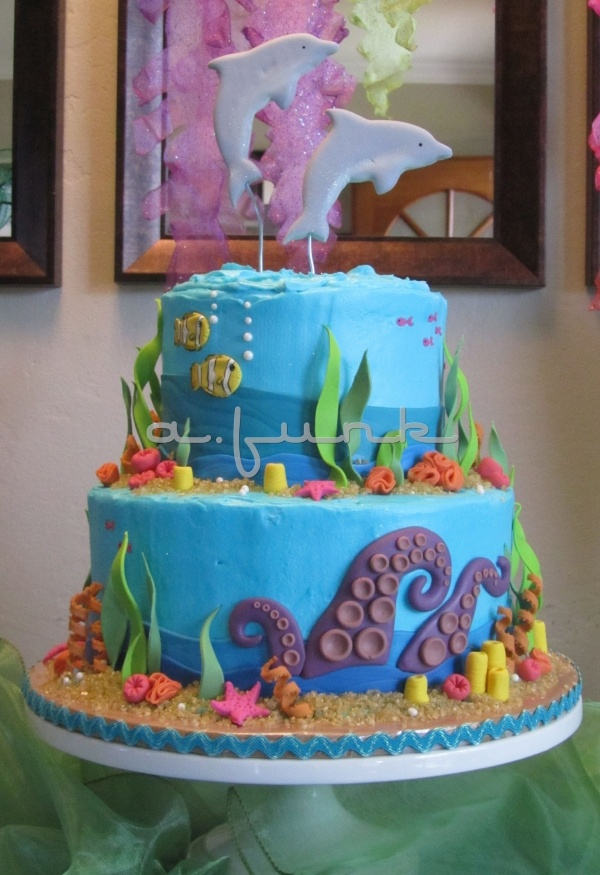 Under the Sea Cake - use different top