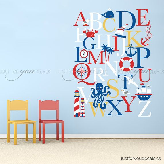 Alphabet Wall Decal Alphabet Decal Nautical By Justforyoudecals Part 53
