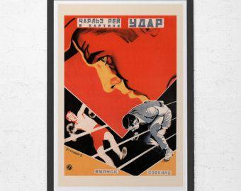 RUSSIAN AVANT GARDE Poster - Red Russian Constructivism Art Print - Soviet Film Poster, High Quality Reproduction, Ribba Wall Art