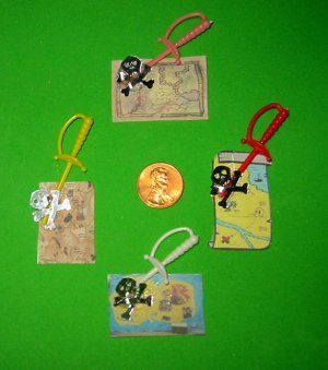 Pirate Treasure Map Scout Craft Swaps Kit makes 25 Girl Crafts