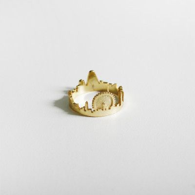 Redcurrent Gold London City Ring available in silver & gold $19.50