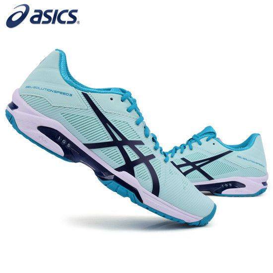 ASICS GEL Solution SPEED 3 Women's Tennis Shoes Indoor / Gym Mint E650N-6749