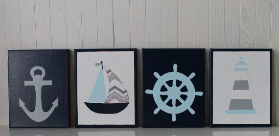 Sophisticated Modern Nautical Nursery: Nautical Nursery Decor Anchor Sailboat Nursery Ship's