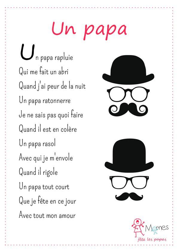 Merci à Pierre Ruaud pour ce poème original pour la fête des pères!