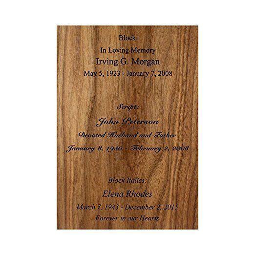 Custom Laser Engraved Inscription for Wood Funeral Urns (ADD-ON)