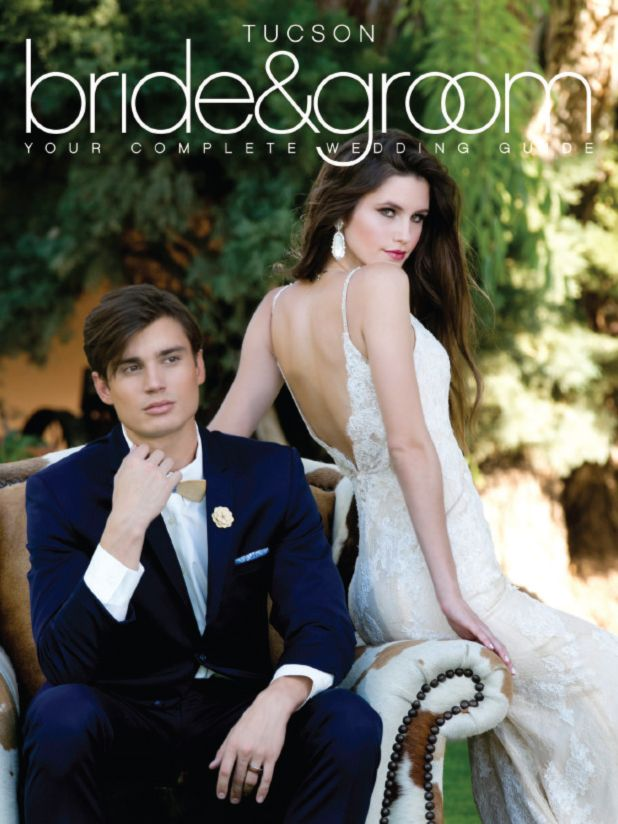 This is our super gorgeous Winter Spring cover! Tucson Bride & Groom, Tucson Wedding magazine, Location: Tanque Verde Ranch, Designer: Rackel Gehlsen Weddings & Events, Photographer: Something Blue PhotographyGown: Hair and Makeup: Margarita Go Diva's I Do Hair & Makeup Artistry, Floral: Posh Petals, Cinematographer: Black Sheep FilmworksGiGi Bridal Boutique, Grooms Fashion: Tuxedos on Broadway, Bow Ties: Two Guys BowTies, Jewelry: Kendra Scott, Models: Miranda and Lorenzo of The Agency…