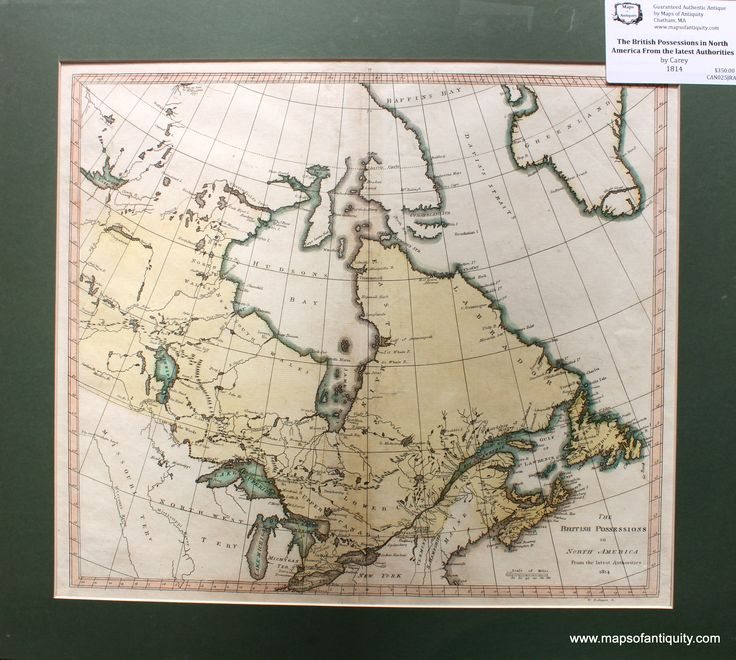 Antique Map The British Possessions in North America