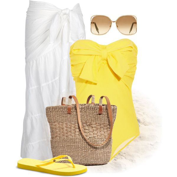 """Day at the Beach"" by wishlist123 on Polyvore"