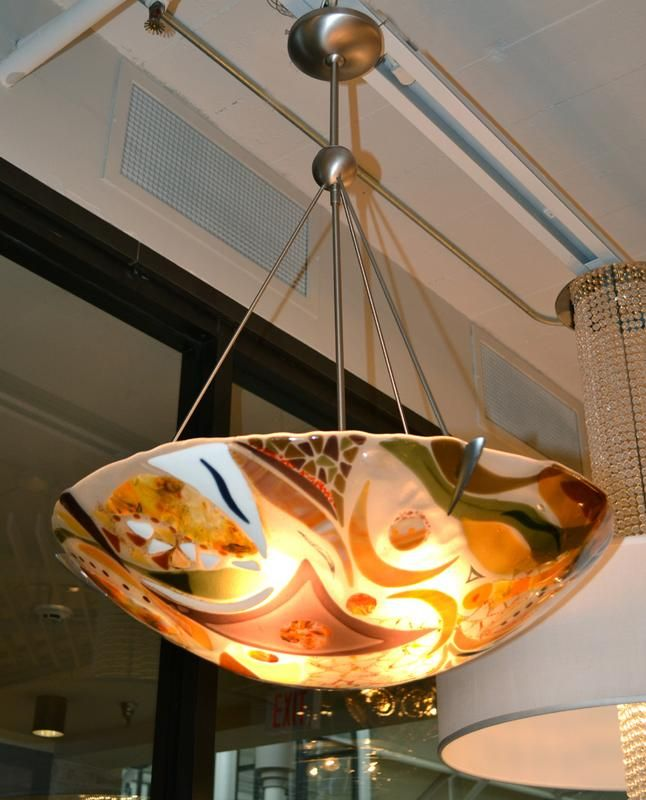 Beautiful Fused Gl Light Fixture By Bonnie Rubinstein Art Pinterest And