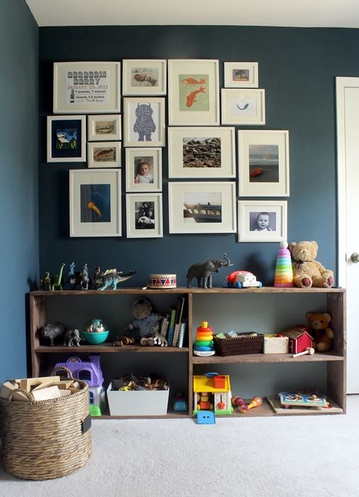 Abe's ocean nursery w/ some updates to take it into the toddler years: lots of DIY projects!