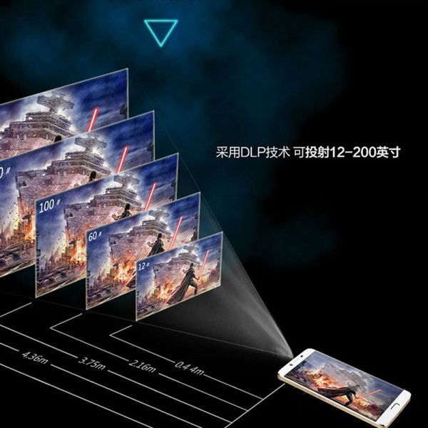 Setro D8 4G Gift Item MT6753 Octa Core 5.5 inch 1920x1080 Innovative Products For Sale 3D Video Projector Mobile Phone