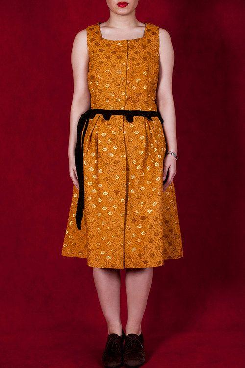Polka Dot Silk Dress by ChaSho on Etsy