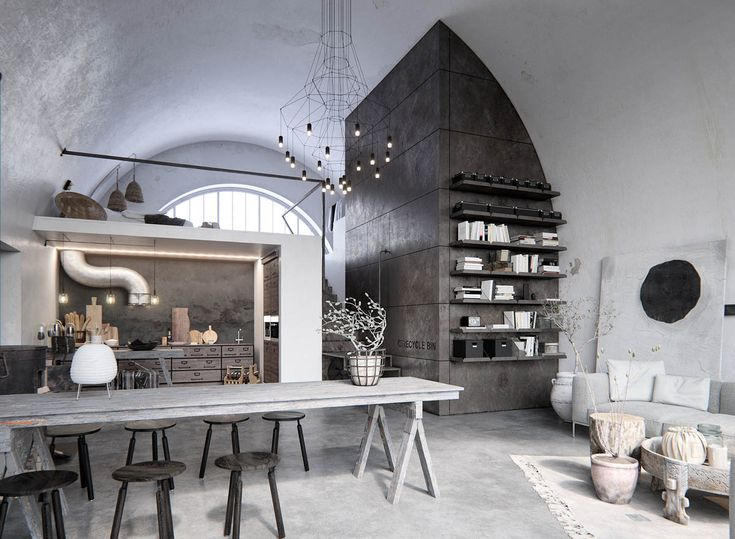 Two Examples Of Industrial Modern Rustic Interior Design #design #feedly