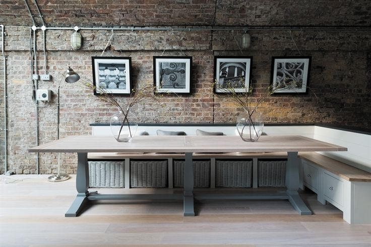 Neptune Kitchen Fitted Storage - Buckland Bench Seating With Baskets