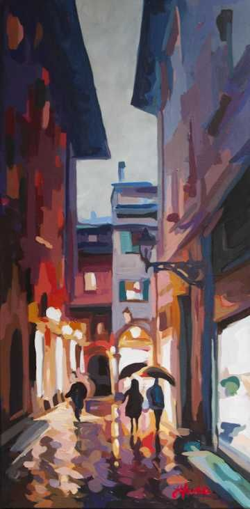 """Joanne Hastie - North Vancouver, BC """"Joanne Hastie paints colourful scenes of everyday cityscapes and landscapes she happens by in the Pacific North West and during her travels abroad."""""""