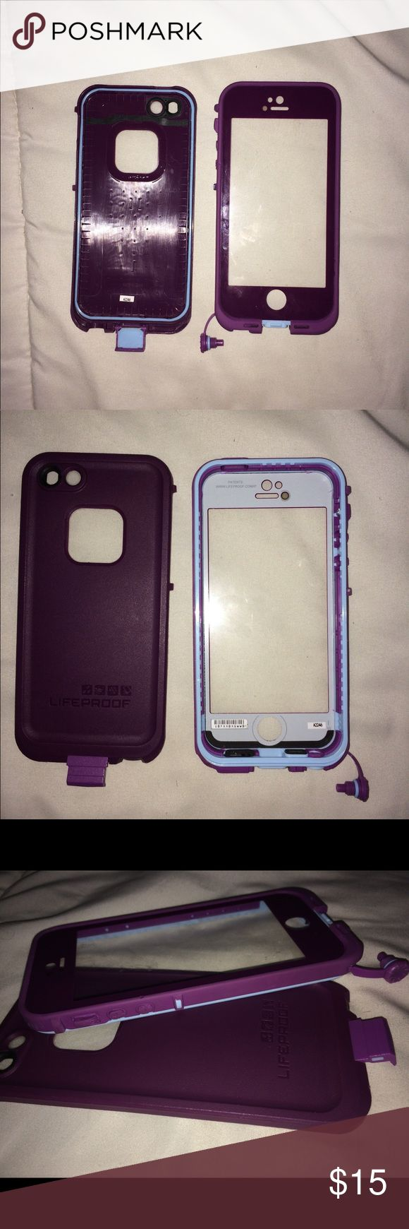 Life proof FRE Iphone 5/5s Imperial Purple The case still has lots of life left in it, however the switch to control the silence button does not work. All other ports & seals are functioning. The case is authentic and I have left serial numbers on it. Thanks for looking & happy poshing :) Defect is reflected in pricing . LifeProof Accessories Phone Cases