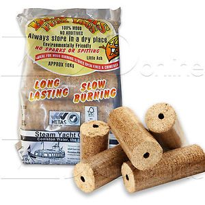 These heat logs are natural, 100% wood and contain no additives. There's no sparking or spitting and they Easy to light and provide a high, steady heat output with low smoke and ash output.  With an average burning time of over 4 hours per log, they are perfect for open fireplaces, stoves and chimineas. #fire #fireplace #realfire