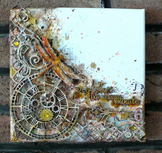 487 best mixed media canvases images on pinterest for Mixed media canvas art ideas